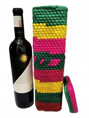Cubre botella de Palma tejido a mano